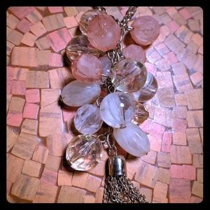 Pink Bead Chained Necklace